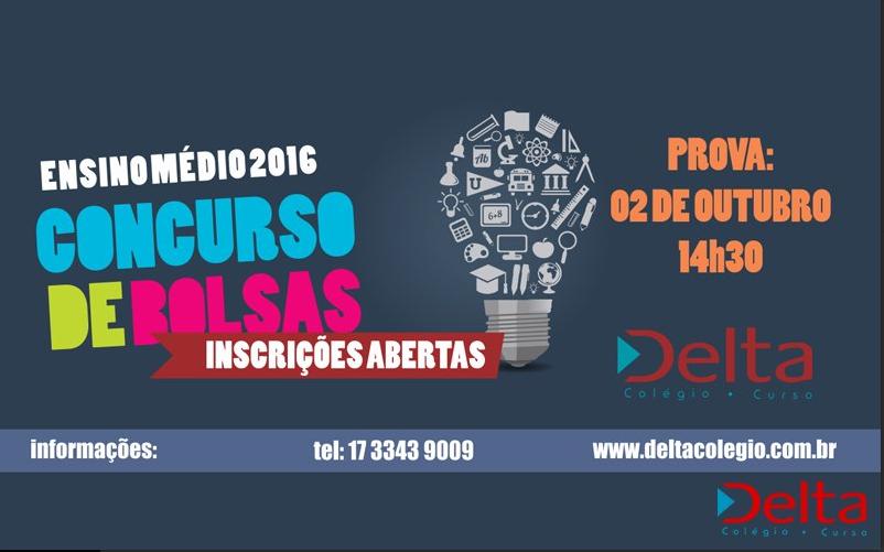 CONCURSO DE BOLSAS – ENSINO MÉDIO 2016