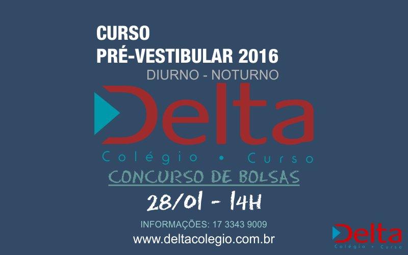 CURSO PRÉ – VESTIBULAR 2016